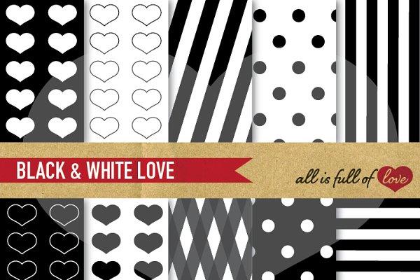 -20% Black Patterns Valentines Day