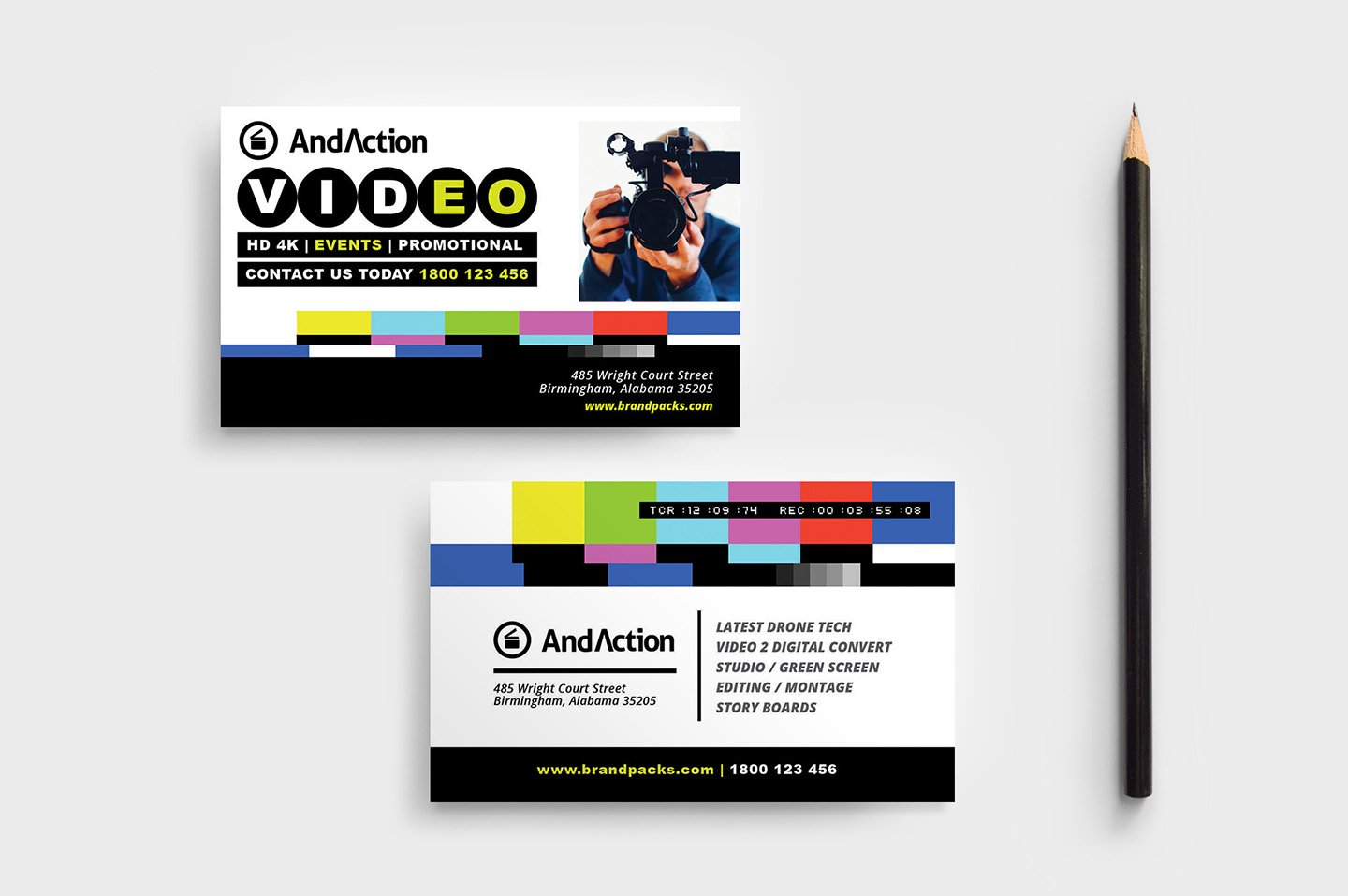 Videographer Business Card Template ~ Business Card Templates ...