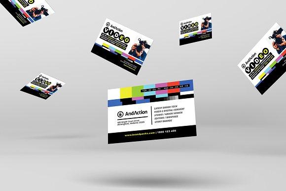 Videographer business card template business card templates videographer business card template business card templates creative market colourmoves