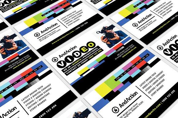 Videographer Business Card Template Business Card Templates