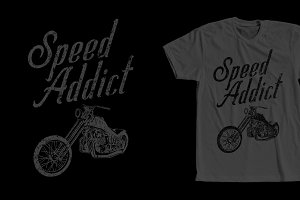 Speed Addict Motorcycle Shirt Design