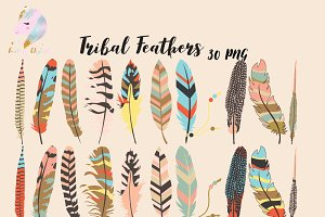 Tribal Feathers Clipart