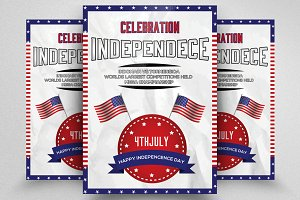 4th of July American Flag Day Flyer
