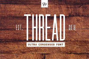 Thread - Ultra Condensed Font