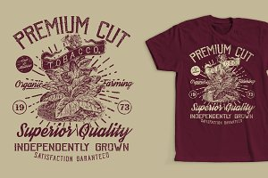 Premium Tobacco T-Shirt Design