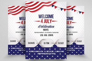 American Flag Day Celebration Flyer