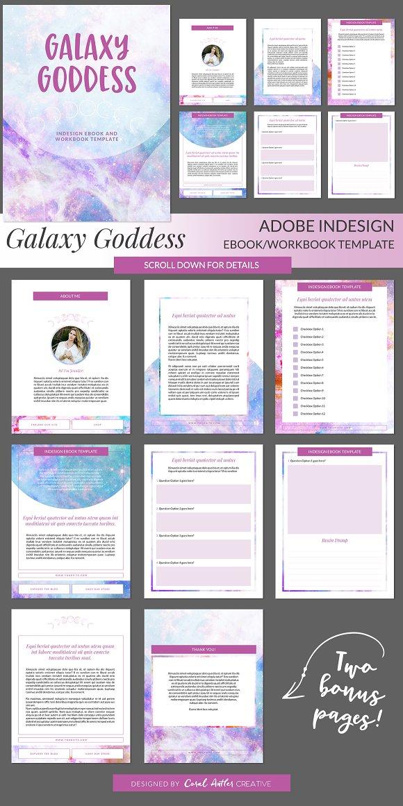 Galaxy Goddess INDD Ebook Template