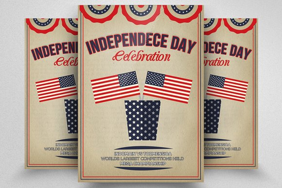Retro Style Independence Day Flyer