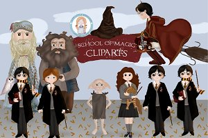 School of Magic cliparts