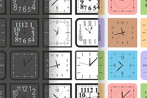 pattern with Square wall clock