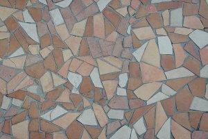 Brown tile mosaic texture