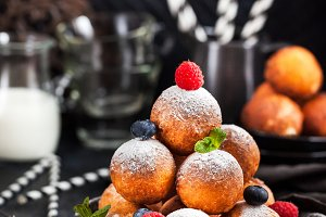 Cottage cheese ball donuts