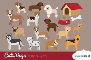 Cute Dogs Clip Art