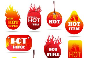Hot sale and special offers labels