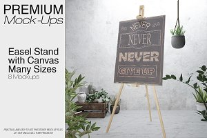 Easel Stand with Canvas - Many Sizes