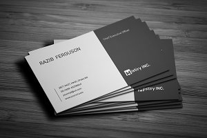 MS Word Minimal Business Card