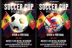 Football World Cup 2018 Flyer