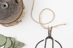 Styled Stock Photo Twine & Scissors