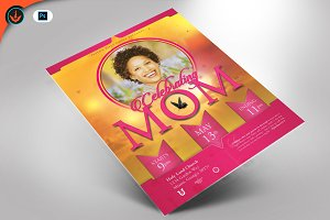 Celebrating Mom Flyer Template