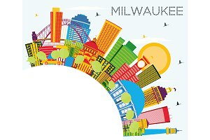 Milwaukee Skyline with Color