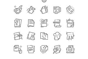 File Line Icons