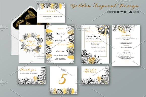 Golden Tropical Wedding Collection