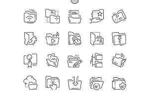 Folders Line Icons