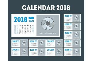 Calendar Event Planner 2018