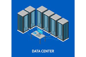 Data Center Poster Card