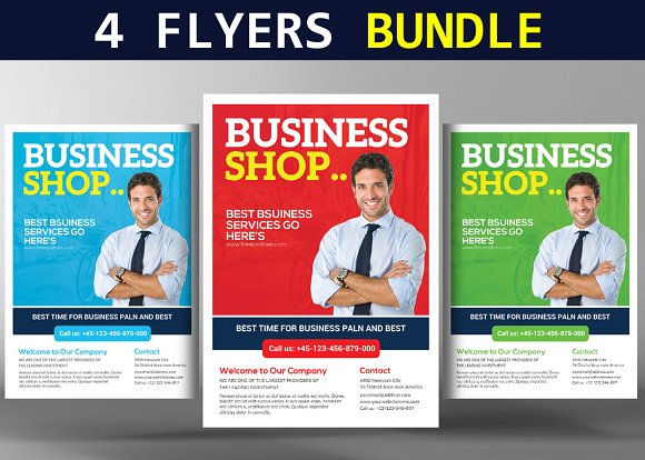 4 Smart Business Flyers Bundle