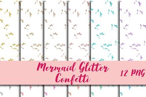 Mermaid Confetti Overlay