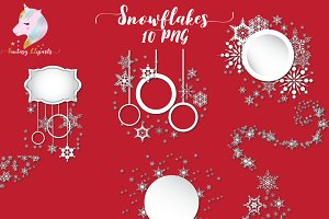 Snowflakes Frames and Borders