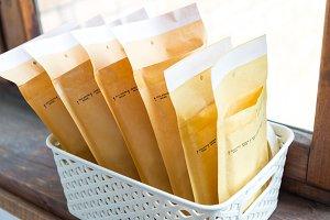 Preparing envelope package.