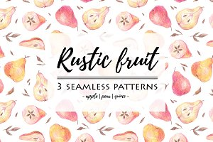 RUSTIC FRUIT patterns & elements