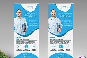 Clean Roll Up Banner