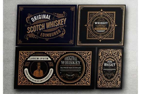 4 Vintage Templates Ready For Print