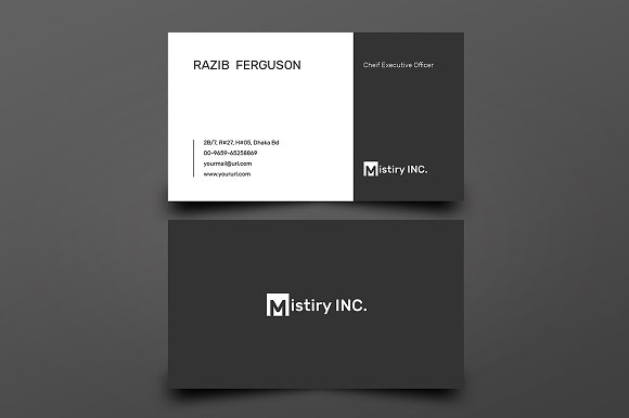 Business Card With MS Word