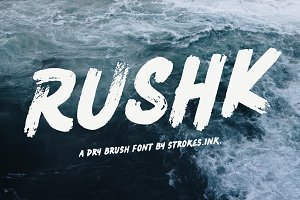RUSHK - Dry Brush Font