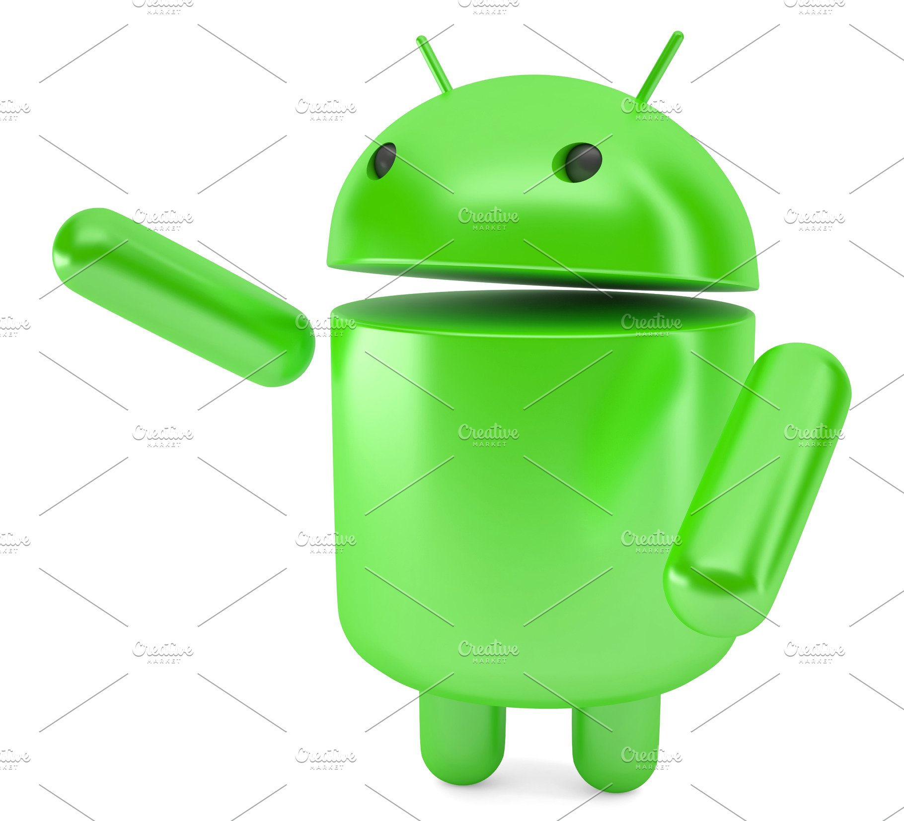 Android pointing at invisible object