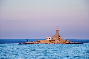 lighthouse in the Adriatic Sea