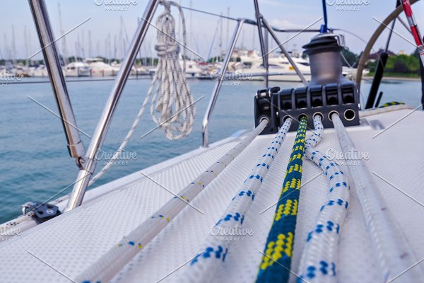 rigging on a yacht ~ Nature Photos ~ Creative Market