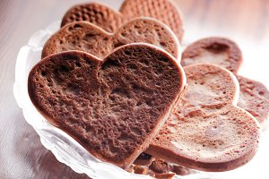 Heart shaped gingerbread cookies