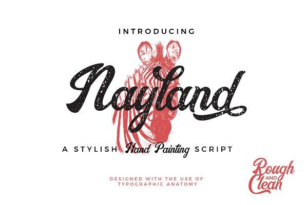 Script Fonts: Tanziladd - 30% Off ! Nayland Script
