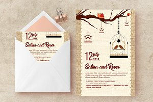 Wedding Ceremony Card invite Templat