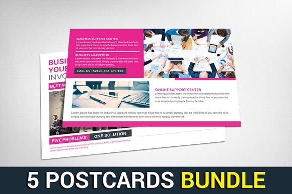 5 Contractor Postcards Bundle