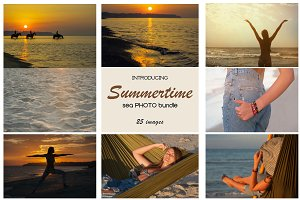 Summertime. Sea photo bundle