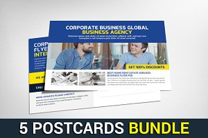 5 Digital Agency Postcards Bundle