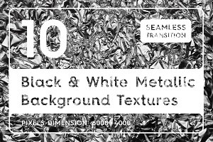 Black & White Metallic Textures