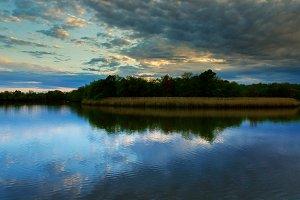 Beautiful Morning Multicolored lake