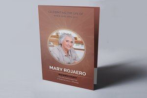 Funeral program brochure-V104